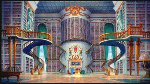La bibliothèque de la Belle et la bête