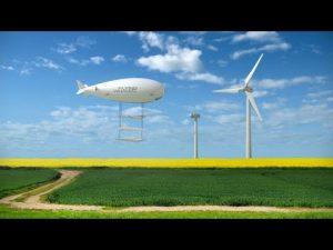 Dirigeable et éoliennes