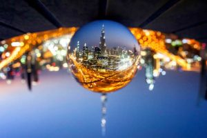 Ville dans une bulle
