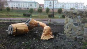 Statue de Lenine détruite