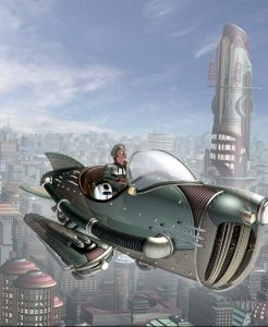 Les voitures volantes, rétrofuturisme
