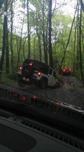 Une Jeep dans la boue