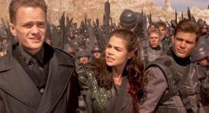 Carmen, Johnny et Carl dans Starship Troopers