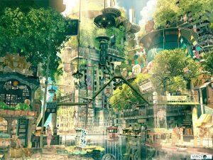 Utopie, vue d'artiste